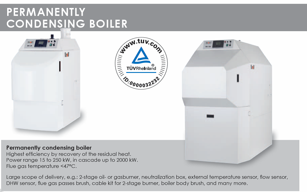 BK Permanently Condensing Boilers Technical Information
