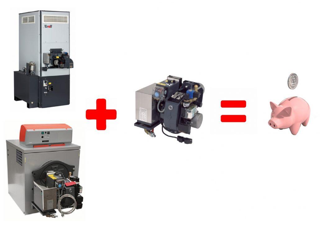 waste/multi oil burner- saving