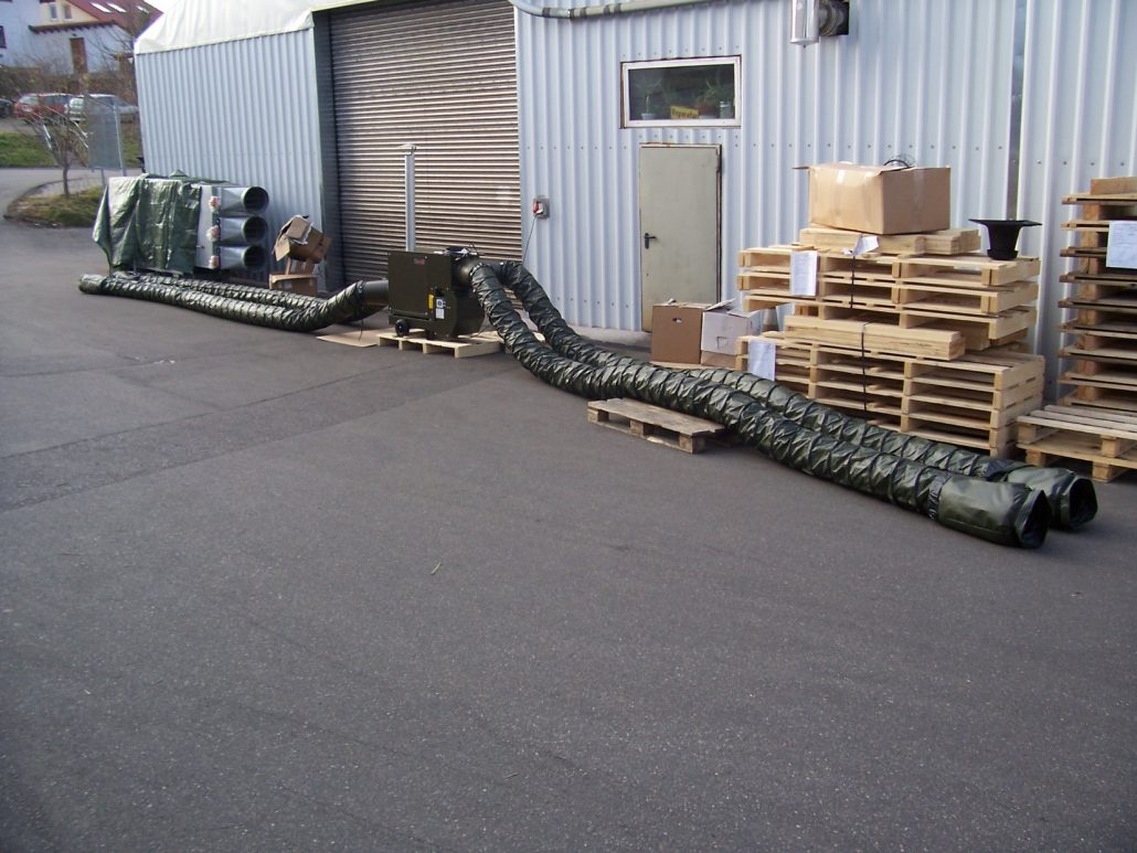 Military grade mobile warm air heaters