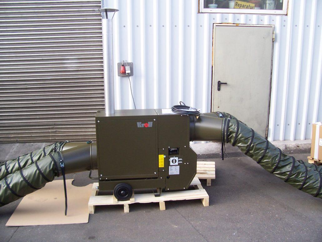 Military grade mobile warm air heater