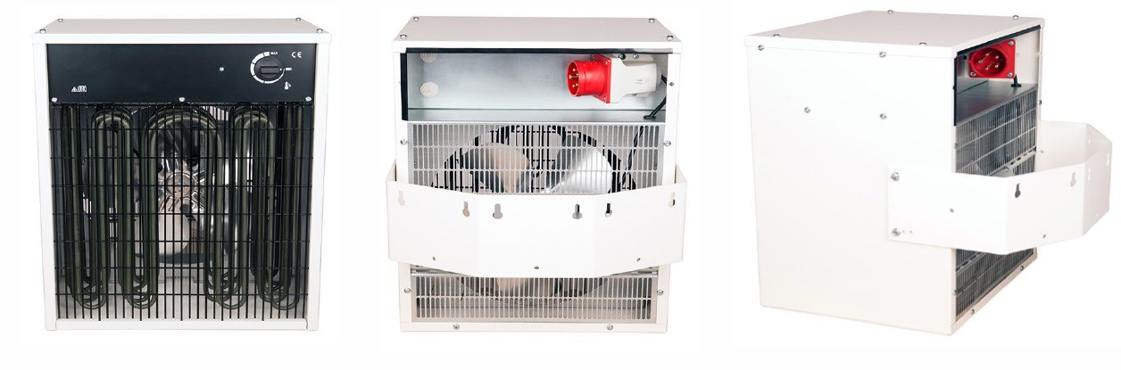 Electric Unit Heater 3kw To 27kw Output 3kw 5kw 10kw
