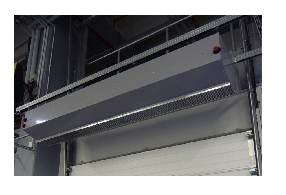 electric over door heaters, electric air curtain for industrial doors
