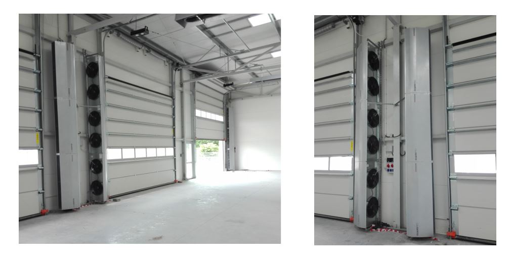 vertical electric air curtain; industrial air curtain; commercial air curtain heaters; Vertical Door Air Curtains;