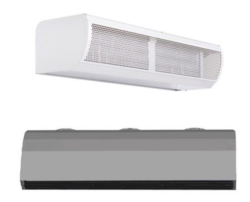 water heated air curtain; lphw air curtain; hydronic air curtains; hot water heated air curtains;