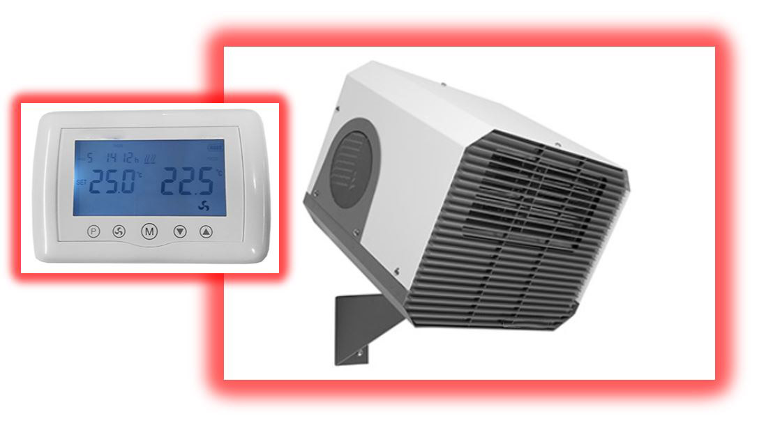 commercial electric wall mounted fan heaters; commercial fan heating