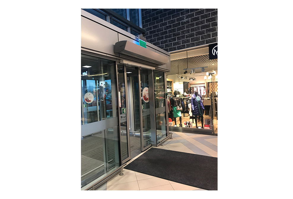 commercial air curtain; commercial door air curtain; commercial air curtain doors; ambient air curtain; air curtains for overhead doors