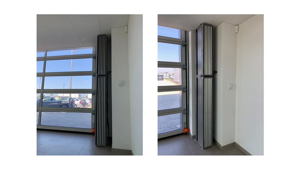 vertical air curtain; vertical door air curtains; vertical air curtain installation;