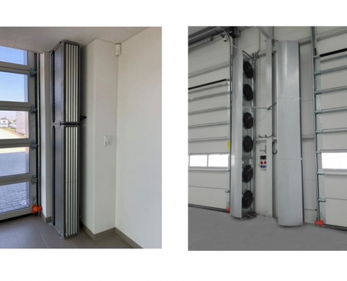 vertical air curtains; vertical door air curtains; industrial vertical air curtains