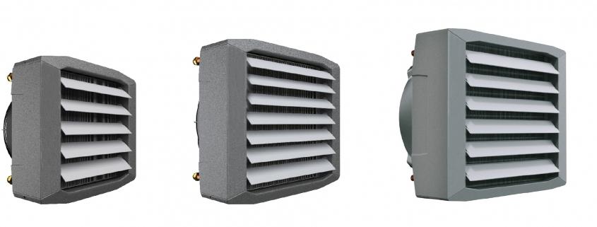 Fan coil heaters; hot water heating fan coil; fan coil heater units; fan assisted air heaters;