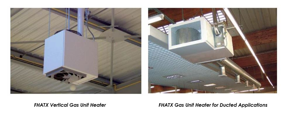 Gas Unit Heater Options – free blowing or ducted; unit heaters gas fired;