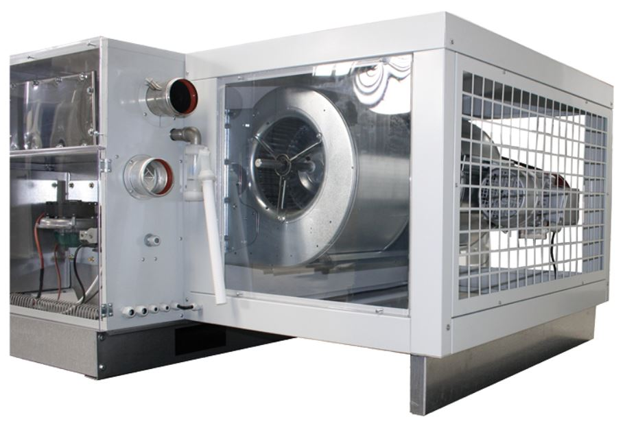 commercial gas fired suspended ducted warm air heaters; ducted suspended warm air heaters; hanging gas heater;