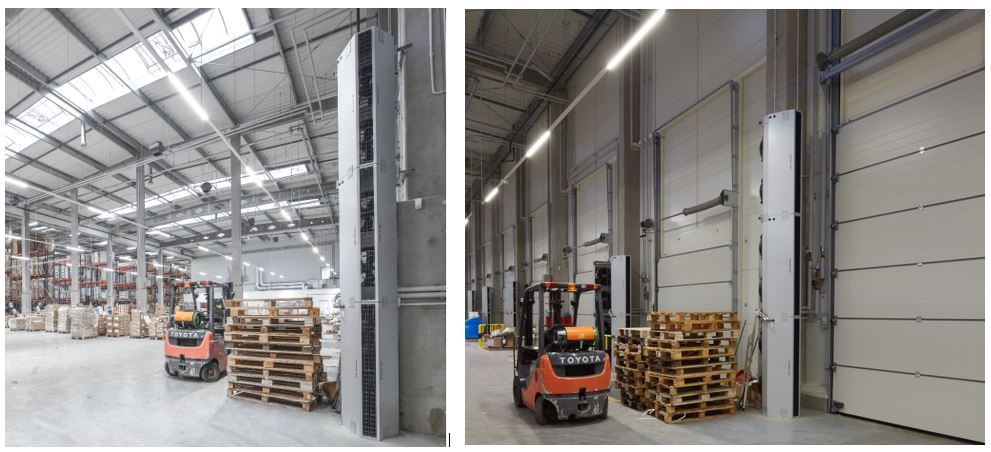 Ambient industrial air curtains from Flexiheat UK: industrial air curtain; industrial air curtains UK; air curtain for industrial doors; industrial air curtain price;