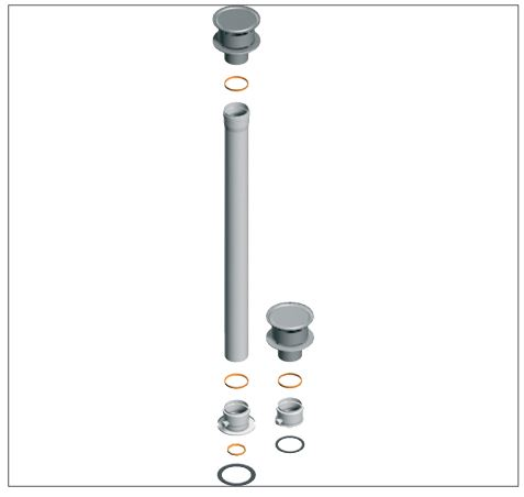boiler Split flue pipe system;